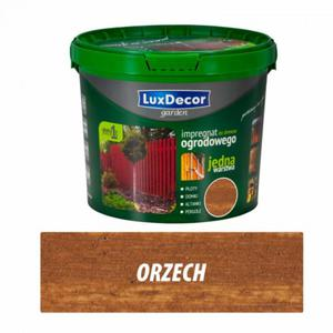 Impregnat do drewna ogrodowego 5l - Luxdecor garden kolor: orzech - 2827421438