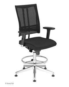 Krzesło pracownicze @-Motion R18K steel33 chrome Ring Base Nowy Styl - 2845113711