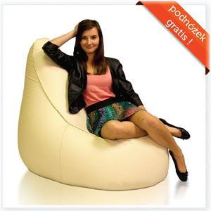 Fotel Ginger XXXL+ Podnóżek Gratis! Polskie Pufy - 2844591418