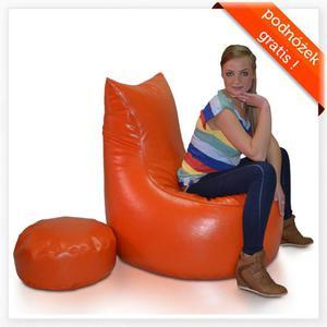 Fotel Jumbo XXXL + podnóżek GRATIS! Polskie Pufy - 2844591426