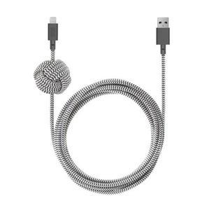 Native Union Night - kabel Lightning z węzlem 3m (zebra) - 2874699625