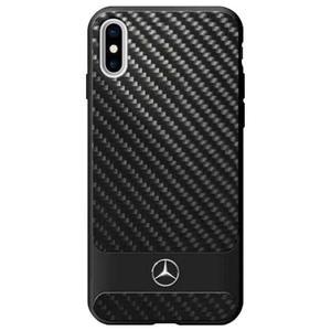 Mercedes Dynamic Line Carbon & Aluminium - Etui iPhone X (czarny) - 2875573437