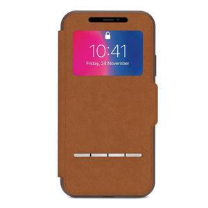 Moshi SenseCover - Etui z klapką dotykową iPhone Xs / X (Caramel Brown) - 2875768552