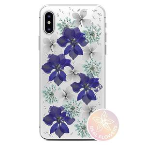 PURO Glam Hippie Chic Cover - Etui iPhone XR (prawdziwe płatki kwiatów fioletowe) - 2876865380