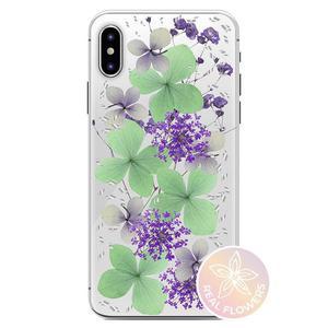 PURO Glam Hippie Chic Cover - Etui iPhone XR (prawdziwe płatki kwiatów zielone) - 2876865381