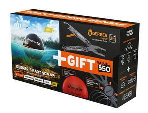 Deeper Smart Sonar Pro Plus - echosonda z Wi-fi oraz GPS zestaw akcesoriów oraz multi-tool Gerber (Edycja Limitowana) - 2881890101