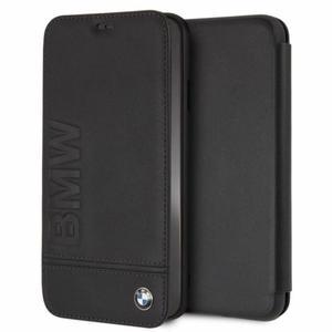BMW Signature Logo Book Case - Skórzane etui z klapką iPhone Xs Max (czarny) - 2881890317