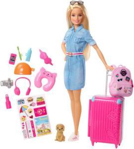 Barbie Lalka z Pieskiem w Podr - 2861670235