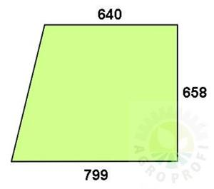 szyba drzwi górna do Deutz D 4507C, D 4807C, D 5207C, D 6007C, D 6207C, D 6507C, D 6807C, D 6907C, D 7007C, D 7207C, D7807C - 2824367509