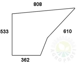 szyba drzwi dolna do Deutz D 4507C, D 4807C, D 5207C, D 6007C, D 6207C, D 6507C, D 6807C, D 6907C, D 7007C, D 7207C, D7807C - 2824367510