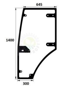 szyba drzwi lewe Farmtrac 675, 675 DT, 685 DT, 690 DT - kabina METAL-FACH - 2875184788