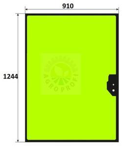 szyba tylna Case 580 ST, 590 ST, 695 ST, 590 SR, 695 SR - 2860197374