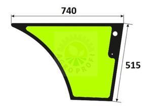 szyba drzwi dolna prawa Case 580 ST, 590 ST, 695 ST, 590 SR, 695 SR - 2860197376
