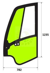 szyba drzwi lewe do JCB 8080, 8085 - 2860197540