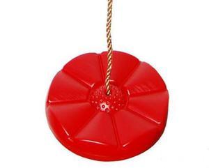 Huśtawka Kwiatek , siedzisko plastikowe - czerwona - 2832630095