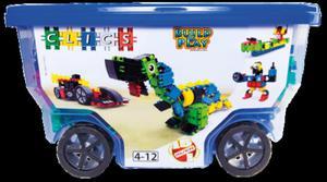 CB411 Klocki konstrukcyjne CLICS Rollerbox 15w1 - 2838507409