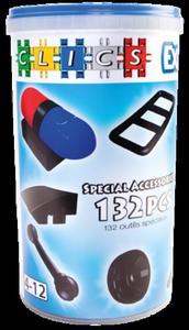 CK027 Klocki CLICS - Tuba akcesoria 132 elementy specjalne - 2841504751