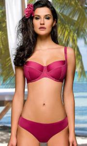 7ca419f0678a01 Korfu różowy strój kąpielowy dwuczęściowy - 2843301815