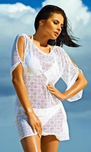 0d00f88656fab9 203S biała ażurowa tunika na lato - 2835114984