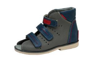 49efd432 Buty profilaktyczne Mazurek - wzór 209 kolor szaro/niebieski - 2853769408