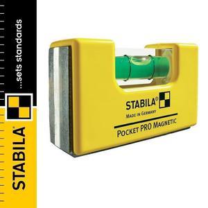Poziomica kieszonkowa magnetyczna STABILA POCKET PRO MAGNETIC + uchwyt transportowy - 2101957007