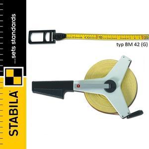 STABILA BM 42 taśma miernicza z włókien szklanych, ramowa zwijana 30m - 2101957026