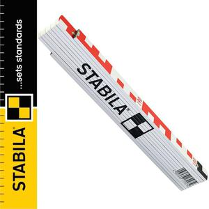 STABILA Miarka składana drewniana z podziałem geodezyjnym i centymetrowym 2m - 2864121157