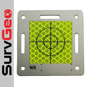 Tarcza aluminiowa z folią żółtą i celem 80x80 mm - 2863694531