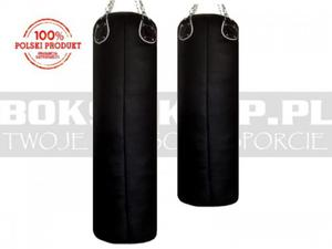 140x35cm - Worek bokserski Manufaktura skóra licowa - 2873329037
