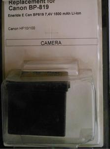 Akumulator do kamer Eneride E Canon BP-819 1500mAh - 2838517644