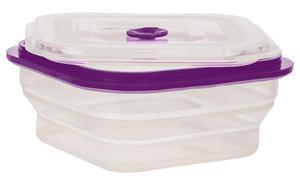 SILIKONOWY SKŁADANY LUNCH BOX 1000 ml /fioletowy - 2845054175