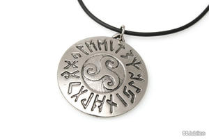 WISIOREK MEDALION RUNICZNY talizmany celtic kauczuk fantasy (aj175) - 2855337562
