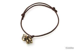 BRANSOLETKA SŁONIK NA SZCZĘŚCIE talizmany kolor brązowy boho słoń (ar537) - 2850402110