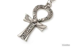 WISIOREK KRZYŻ ANKH SKARABEUSZ gothic amulety talizmany krzyż (aj541) - 2864395552