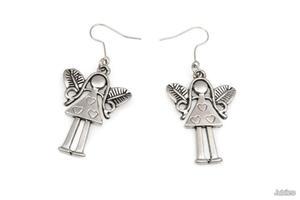 KOLCZYKI ANIOŁKI SREBRNE amulety talizmany wiszące anioł (ar995) - 2837309264