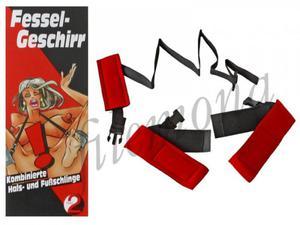 Fessel Geschirr zestaw BDSM do krępowania nóg z szyją - 2832872032