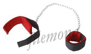 Dark Horn mankiety kajdanki BDSM z długim łańcuchem - 2832872042