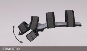 Szyna na dłoń i przedramię z odwiedzonym kciukiem REHAneuro szyna, dłoń, przedramię, ERH 47/1, REHAneuro - 2836499525