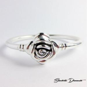 Sztywna bransoleta srebrna z r - 2822078111