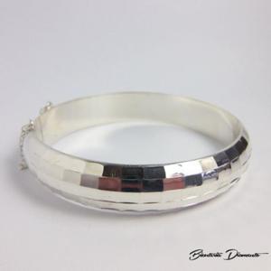 Szeroka bransoleta srebrna sztywna - 2843718689