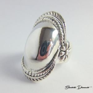 Duży pierścionek srebrny pr. 925 - 2848156404