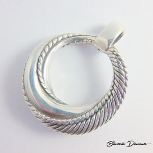 Okrągły wisior srebrny pr. 925 - 2848156412