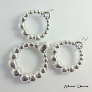 Komplet biżuterii okrągły wisior oraz kolczyki - 2848156407