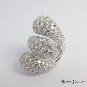 Srebrny pierścionek z cyrkoniami P59 - 2848156417