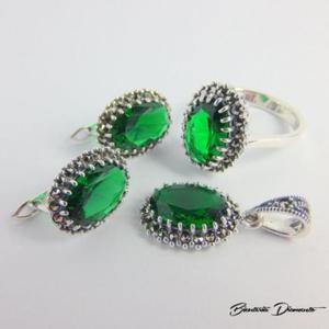 Elegancki komplecik biżuterii z markazytami - 2848156406