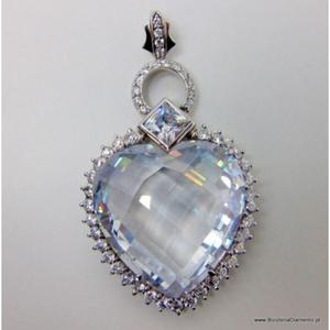 Duży wisior z cyrkoniami w kształcie serca S1 - 2822077548