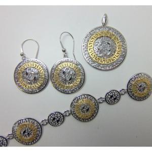 Komplet srebrny pr. 925 z - 2822077711