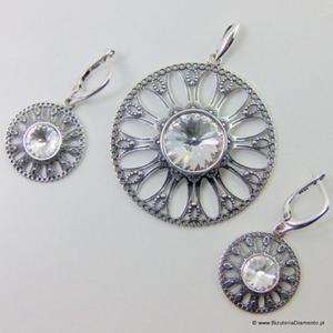 Srebrny komplet oksydowany KY60 - 2822078022