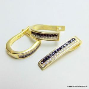 Biżuteria pozłacana komplet KY87 - 2822077355