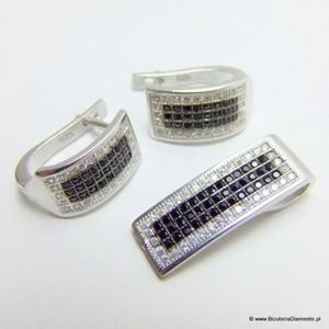 Biżuteria srebrna komplet KY88 - 2822077358